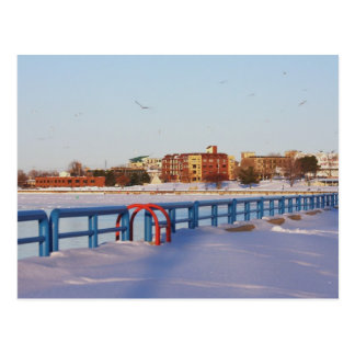 WINTER DOWNTOWN, GRAND HAVEN, MI.  USA. POSTCARD
