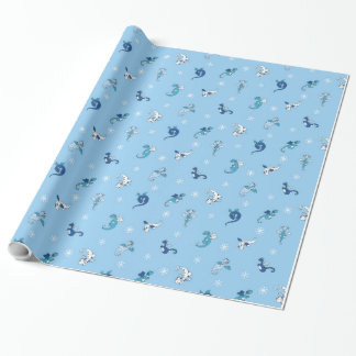 Winter Dragon Babies Wrapping Paper