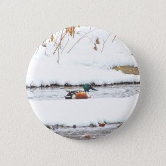 Winter Duck 2 Inch Round Button