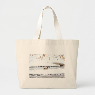 Winter Duck Large Tote Bag