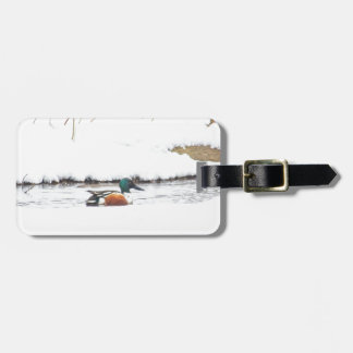 Winter Duck Luggage Tag