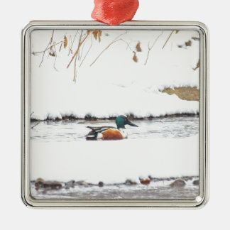 Winter Duck Metal Ornament