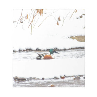 Winter Duck Notepad