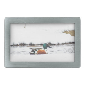 Winter Duck Rectangular Belt Buckles