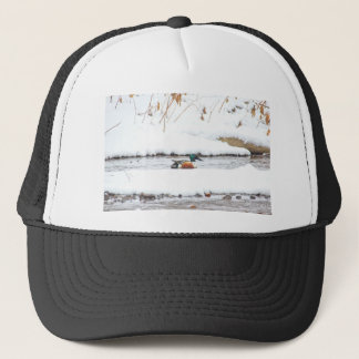 Winter Duck Trucker Hat