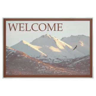 Winter Eagle And Mountains - Welcome Doormat