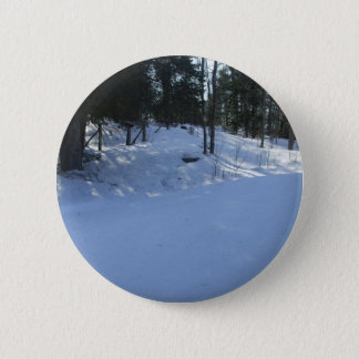 Winter Early Morning Scene 2 Inch Round Button