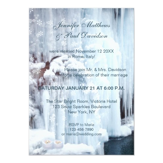 Winter Elope or Post Wedding Party Invitation
