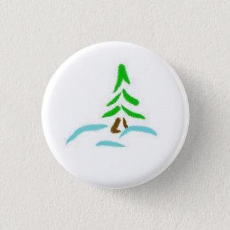Winter Evergreen 1 Inch Round Button