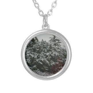 Winter Evergreen Silver Plated Necklace