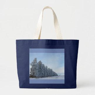 winter evergreen tote