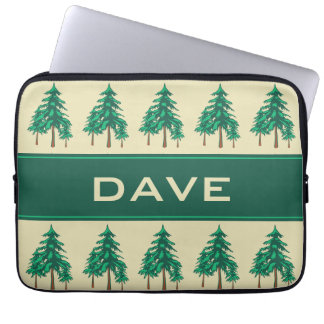 Winter Evergreens Outdoor Enthusiast Personalized Laptop Sleeve