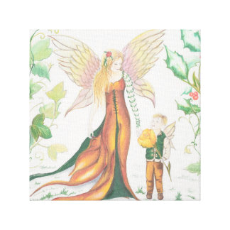 Winter Faery Mother & Child Canvas Print