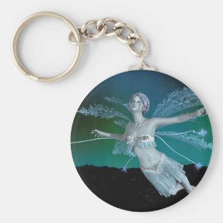 Winter Fairy Basic Round Button Keychain