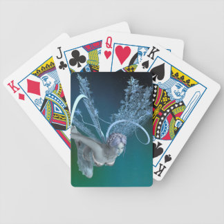 Winter Fairy Bicycle Playing Cards