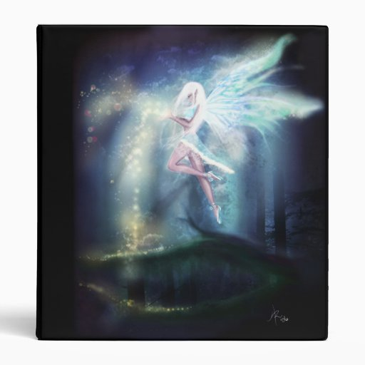Winter Fairy, blue magic fantasy goth art Vinyl Binders