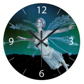 Winter Fairy Clock