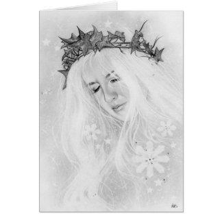 Winter  fairy Elve  ivy crown Card