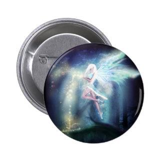 Winter Fairy Goth Fantasy Art Button
