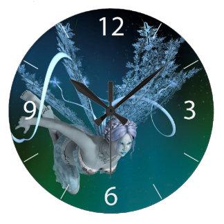 Winter Fairy Large Clock