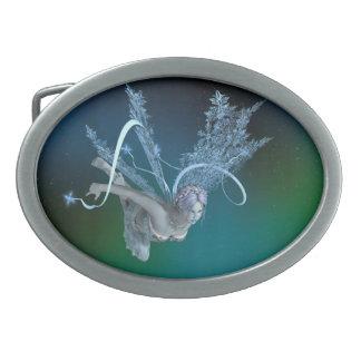 Winter Fairy Oval Belt Buckle