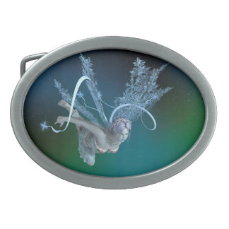 Winter Fairy Oval Belt Buckles