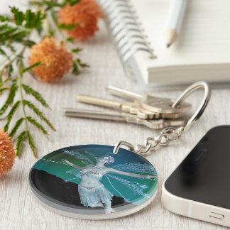 Winter Fairy Single-Sided Round Acrylic Keychain