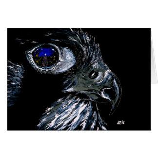 Winter Falcon Card