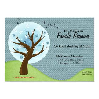 "Winter Family Reunion 5"" X 7"" Invitation Card"