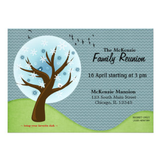 Winter Family Reunion Cards