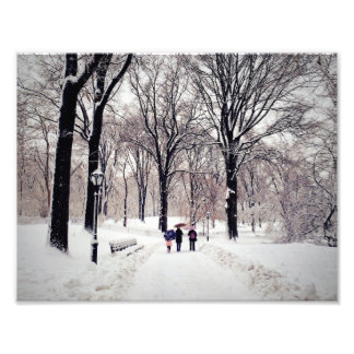Winter Family Trip To Central Park Photo Print