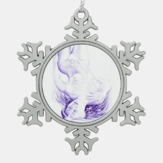 Winter fantasy pewter snowflake ornament