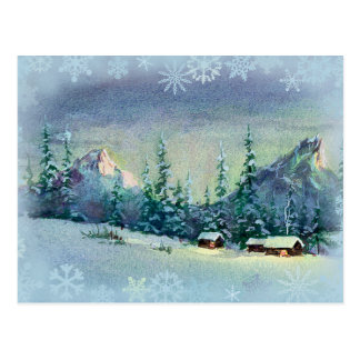 WINTER FARM by SHARON SHARPE Postcard