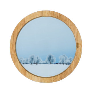 Winter Farm Rectangular Cheese Board