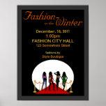 Winter Fashion Show Poster