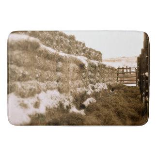 Winter Feed Lot Horizontal Ranching Bath Mat