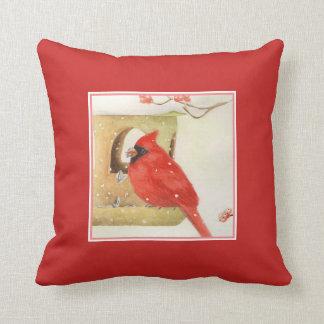 Winter Feeder Decorative Pillow