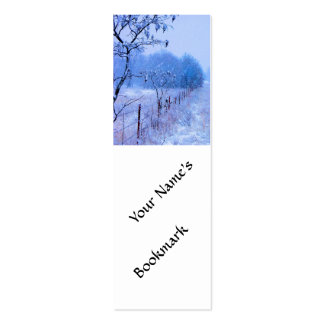 Winter Fencerow Mini Business Card