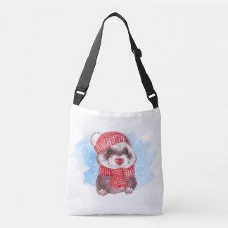 Winter ferret crossbody bag