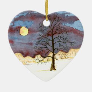 Winter Field Ceramic Ornament
