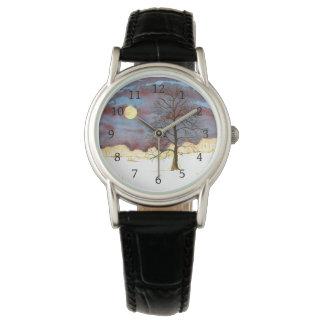 Winter Field Full Moon Wrist Watch