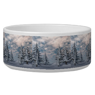 Winter fir trees landscape