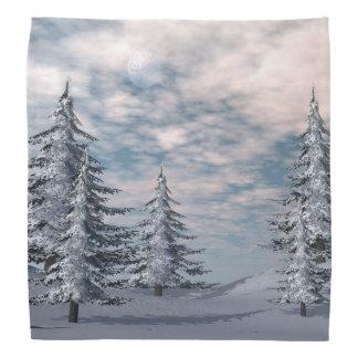 Winter fir trees landscape bandana