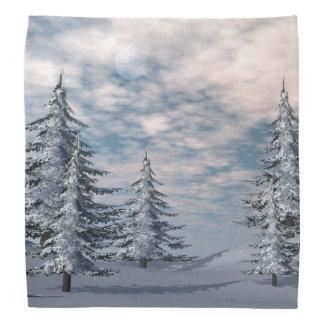 Winter fir trees landscape bandanna
