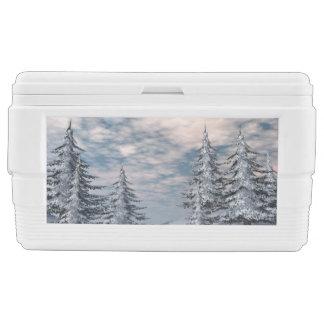 Winter fir trees landscape cooler