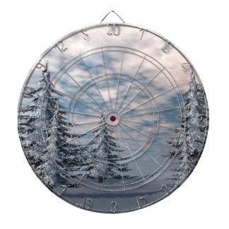 Winter fir trees landscape dartboard