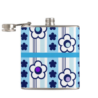 Winter Flowers Hip Flask