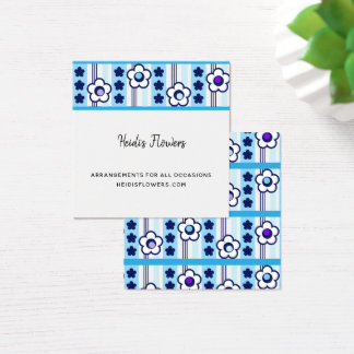 Winter Flowers Square Business Card