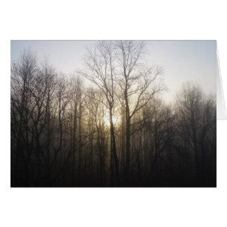 Winter Fog Morning Sunrise Nature Photography Card