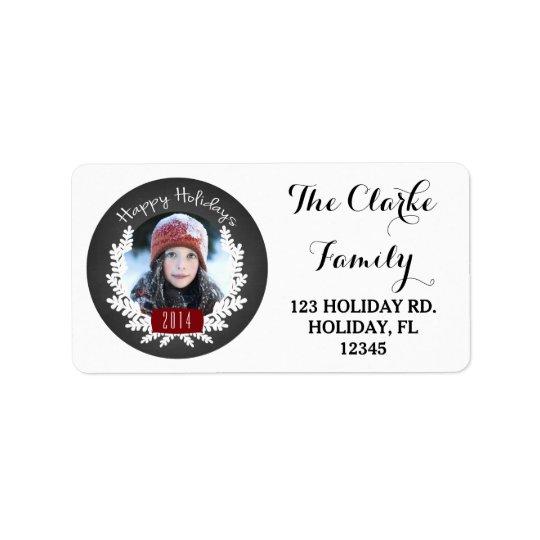 Winter Foliage Chalkboard | Holiday Address Label